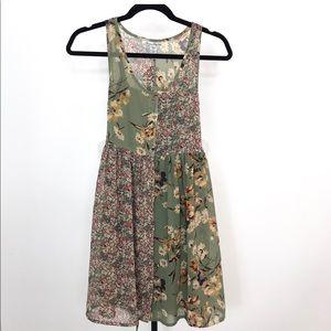American Rag Sage & Pink Boho Sleeveless dress